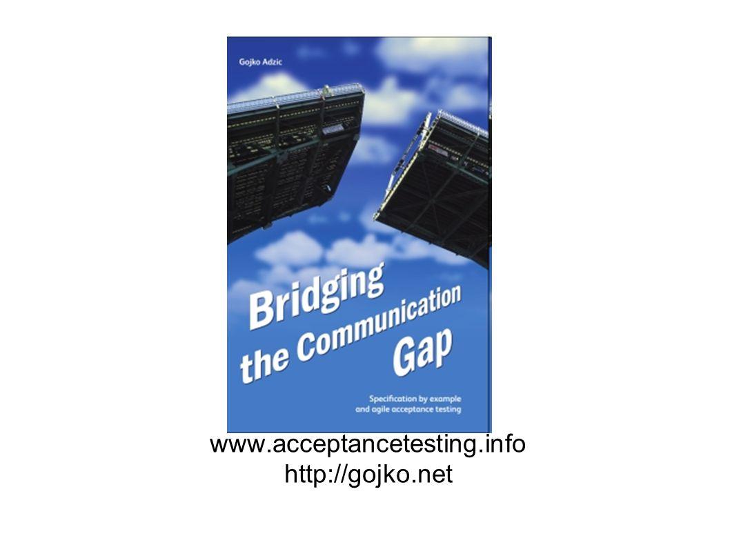 www.acceptancetesting.info http://gojko.net