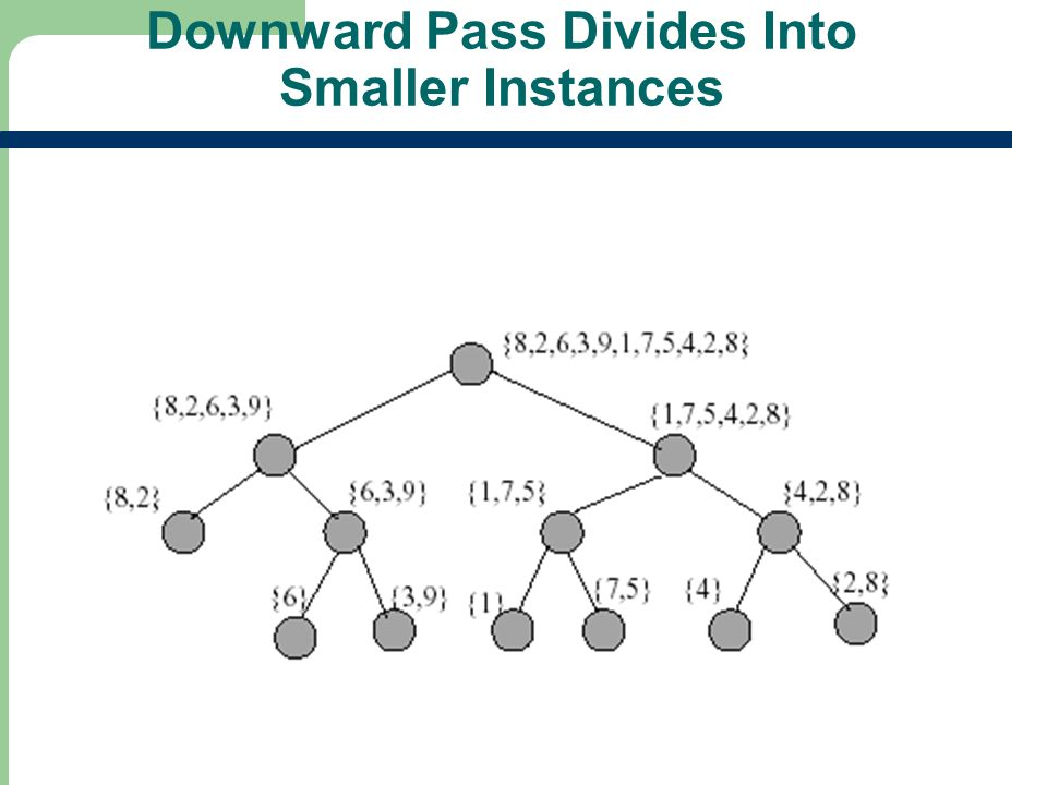 Downward Pass Divides Into Smaller Instances