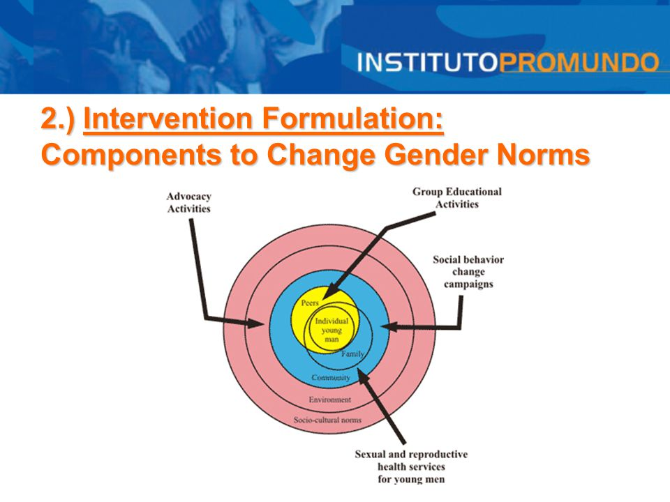 2.) Intervention Formulation: Components to Change Gender Norms