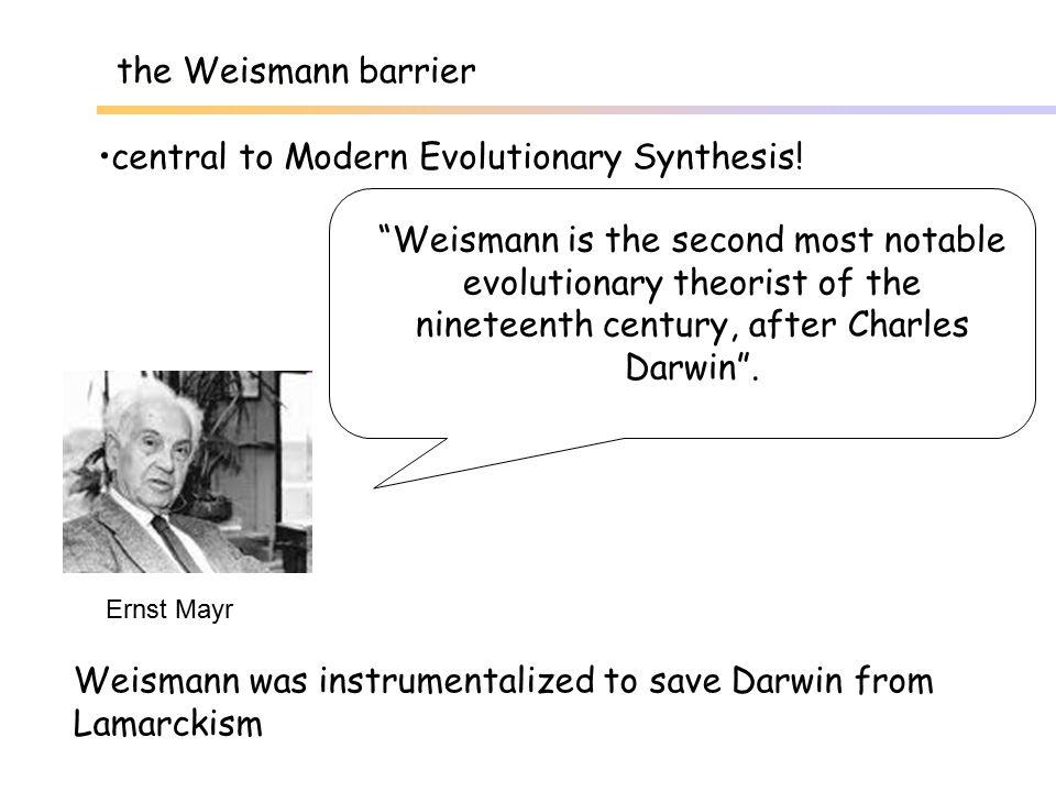 But: the Weismann barrier is not general...