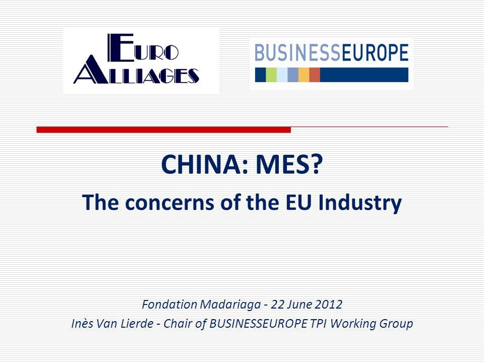CHINA: MES.