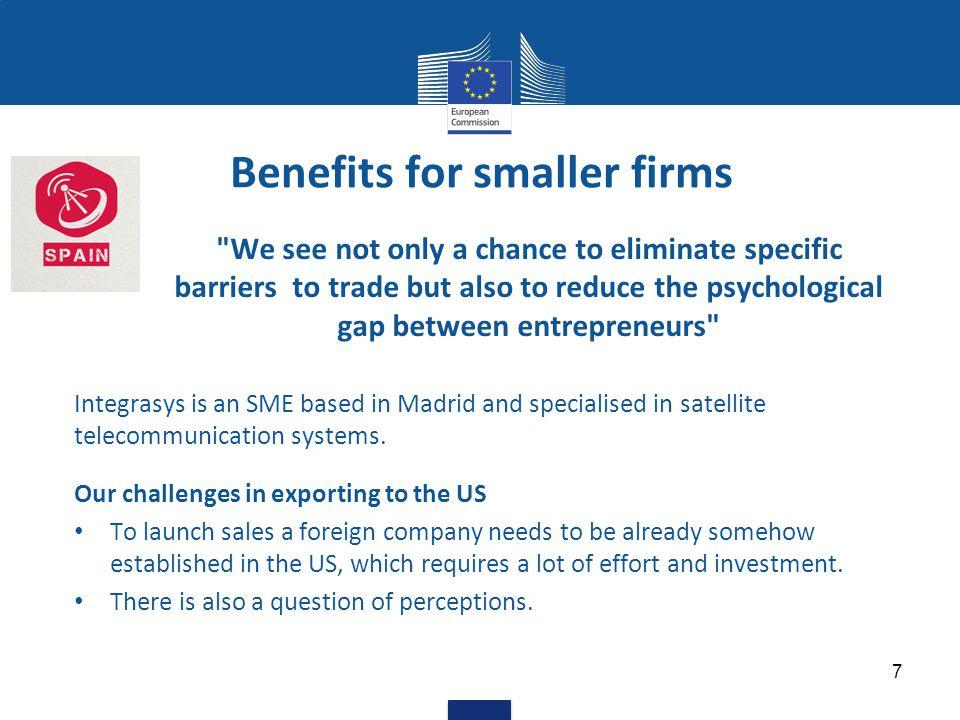 A 21st century trade agreement Aim 1 - More business opportunities Tariffs Services Public procurement Investment 8
