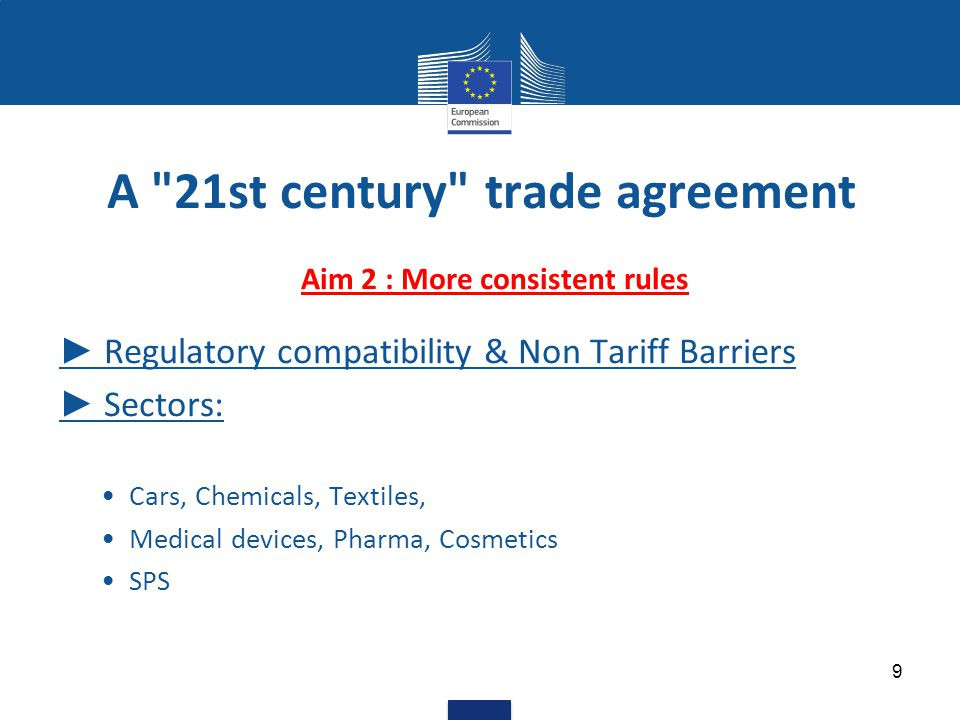 Aim 3 - Better regulatory environment – examples for global rules Intellectual Property Rights Sustainable Development (labour & environment) Energy & Raw Materials Localisation Customs & Trade Facilitation Competition/ State Owned Enterprises 10 A 21st century trade agreement