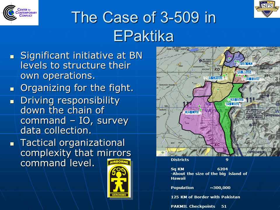 The Case of 3-509 in EPaktika Significant initiative at BN levels to structure their own operations.