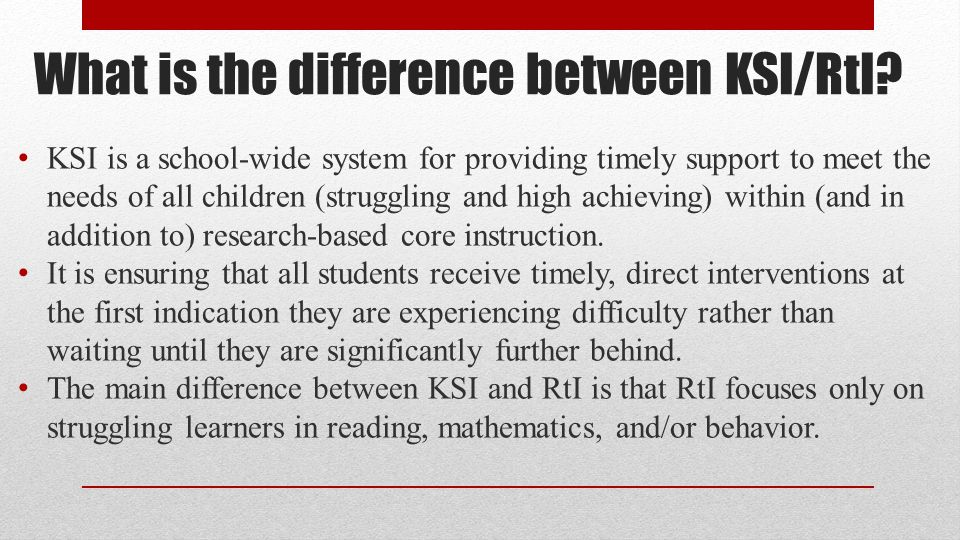 Is KSI/RtI a program or an instructional strategy.