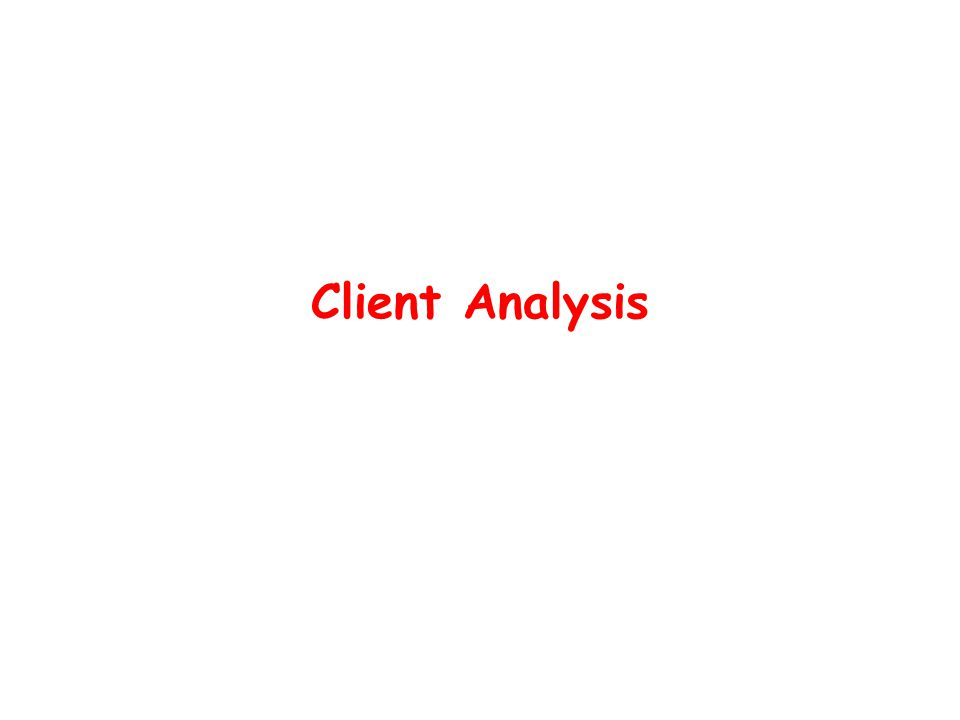 Client Analysis