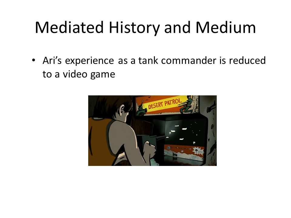 Mediated History and Medium Ari's experience as a tank commander is reduced to a video game