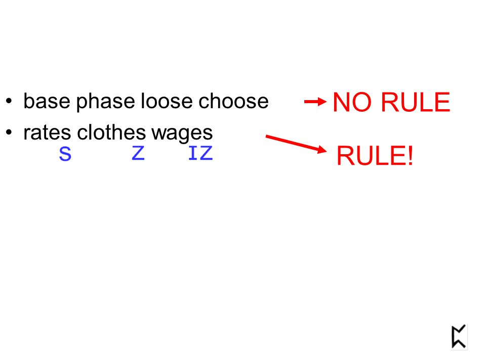 base phase loose choose rates clothes wages NO RULE RULE!