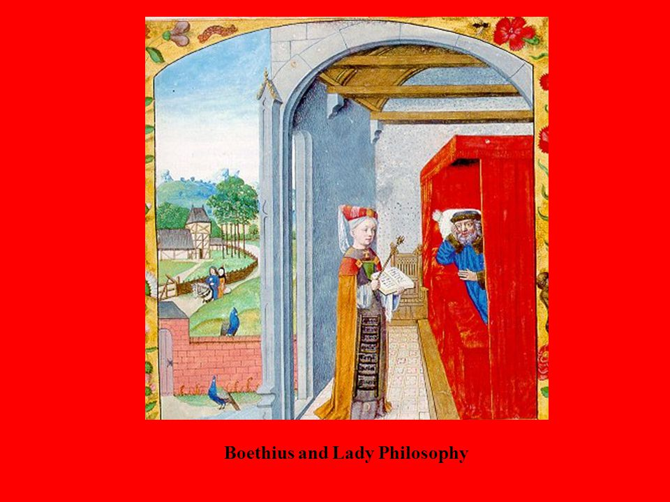 Boethius and Lady Philosophy