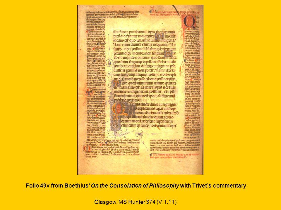 DE CONSOLATIONE PHILOSOPHIAE, TRANSLATED BY JOHN WALTON (1410) Schoyen collection, MS 615 (England, c.