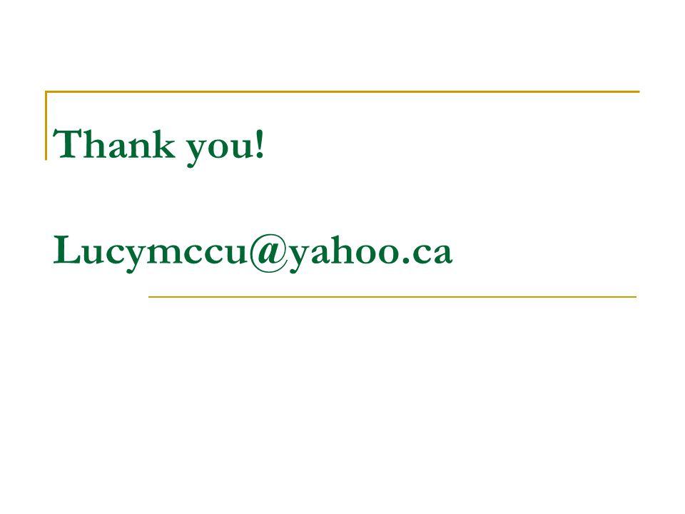 Thank you! Lucymccu@yahoo.ca