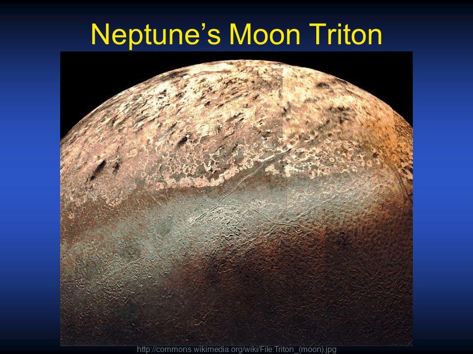 Neptune's Moon Triton http://commons.wikimedia.org/wiki/File:Triton_(moon).jpg