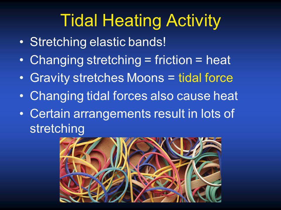 Stretching elastic bands.