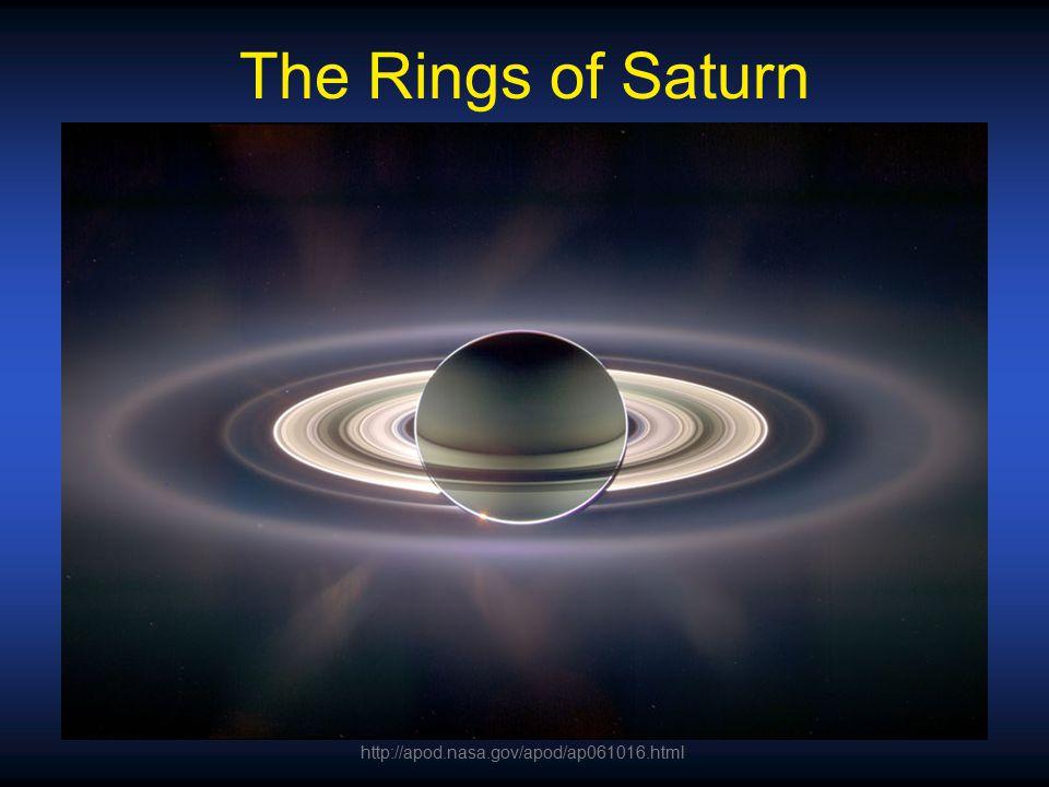 The Rings of Saturn http://apod.nasa.gov/apod/ap061016.html