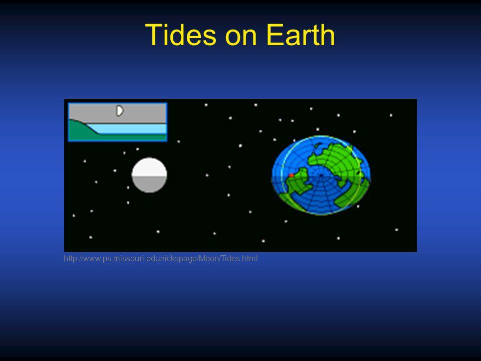 Tides on Earth http://www.ps.missouri.edu/rickspage/Moon/Tides.html