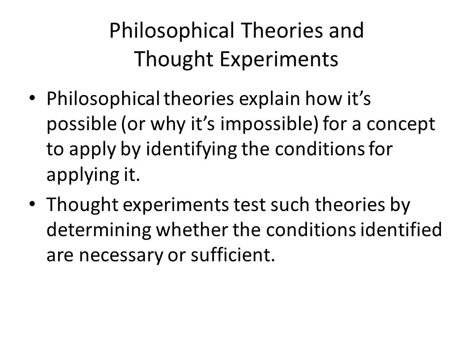 How are thought experiments possible.