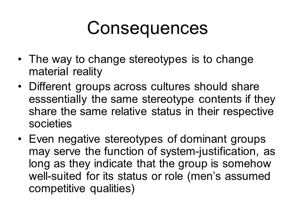 Taxonomy of Prejudices Based on the Structural Relations between Groups (Fiske and Glick, 2001) admiration envious prejudice status interdependence paternalistic prejudice contemptuous prejudice high low cooperative competitive