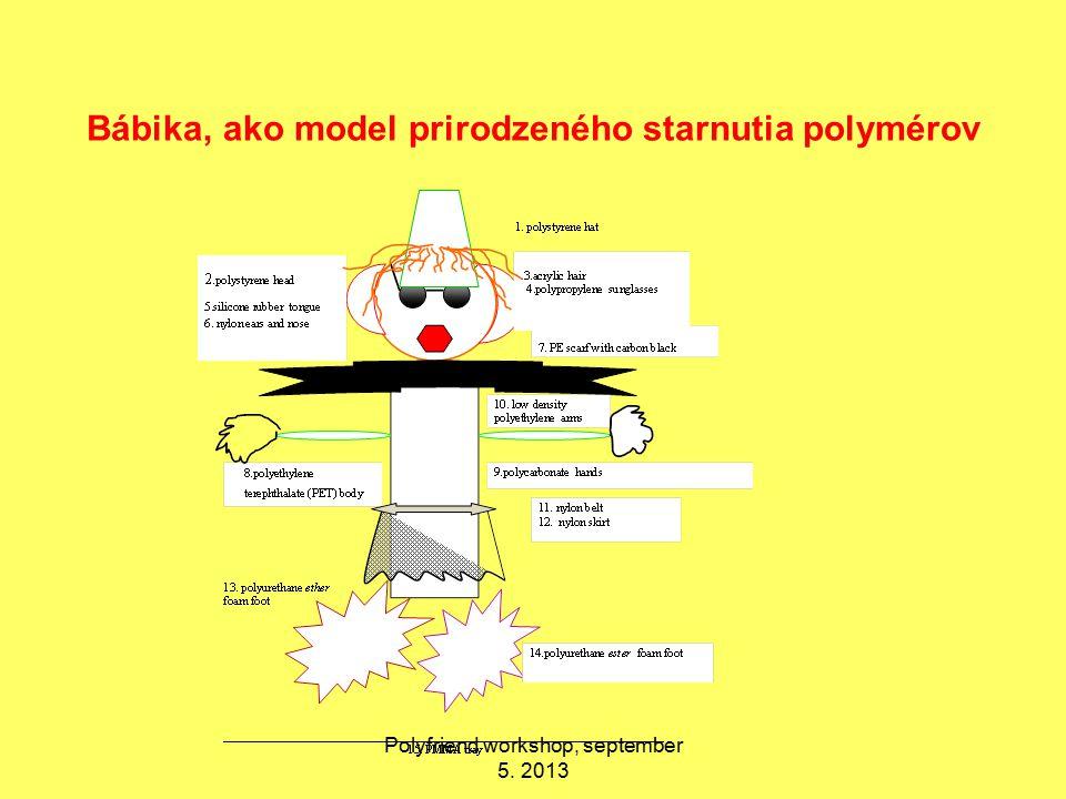 Bábika, ako model prirodzeného starnutia polymérov Polyfriend workshop, september 5. 2013