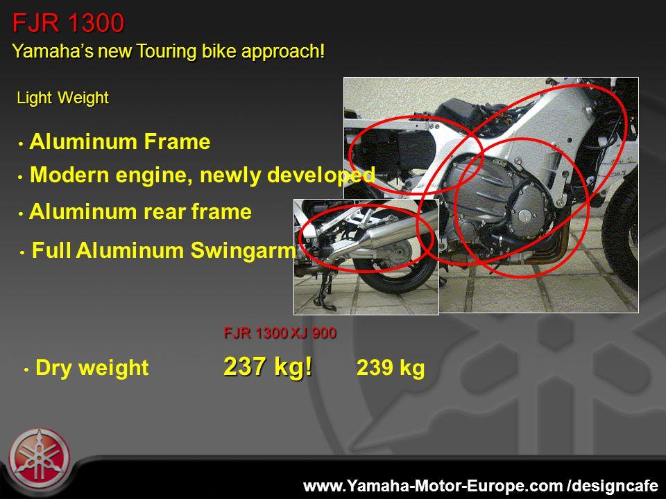 www.Yamaha-Motor-Europe.com /designcafe Light Weight FJR 1300XJ 900 237 kg.