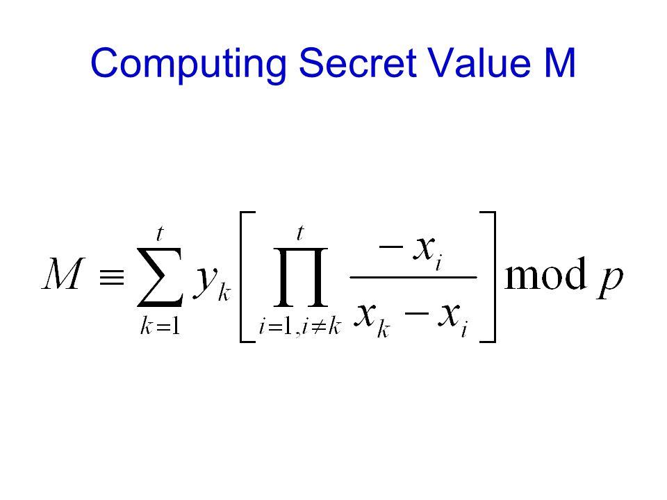 Computing Secret Value M