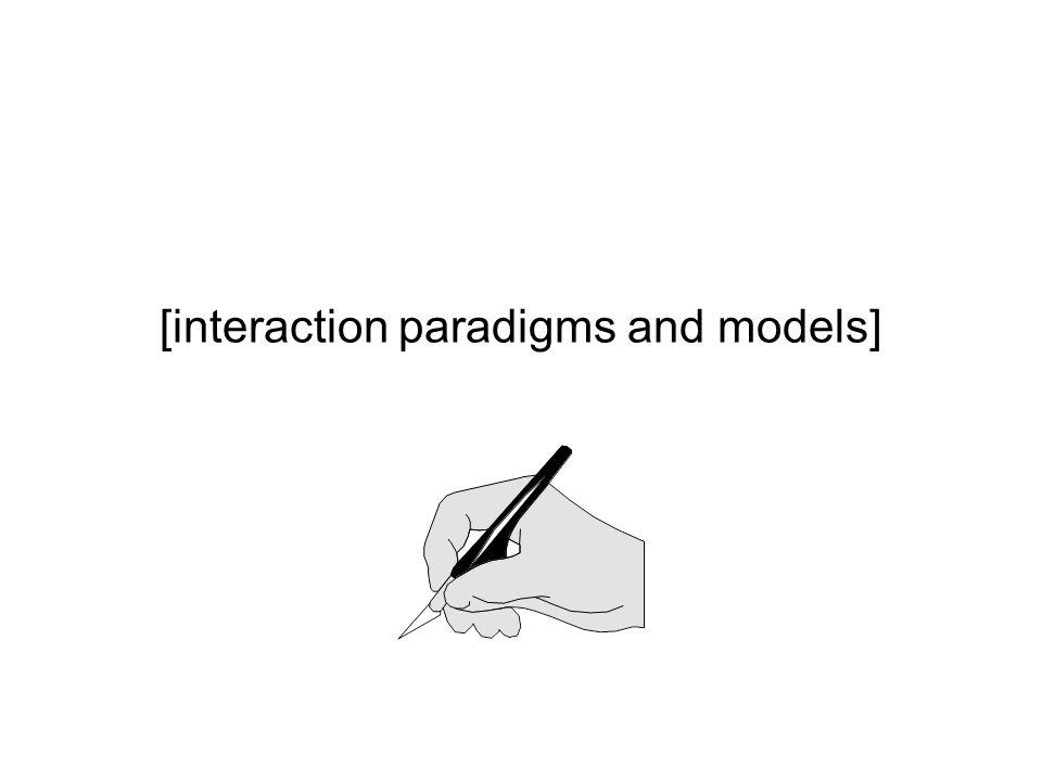 [interaction paradigms and models]
