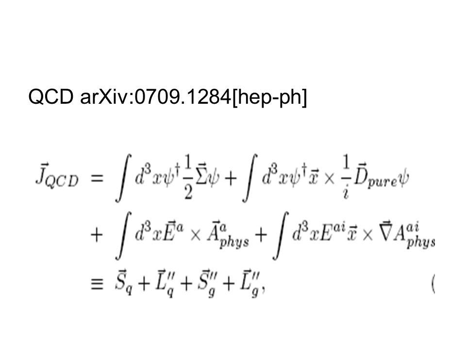 QCD arXiv:0709.1284[hep-ph]
