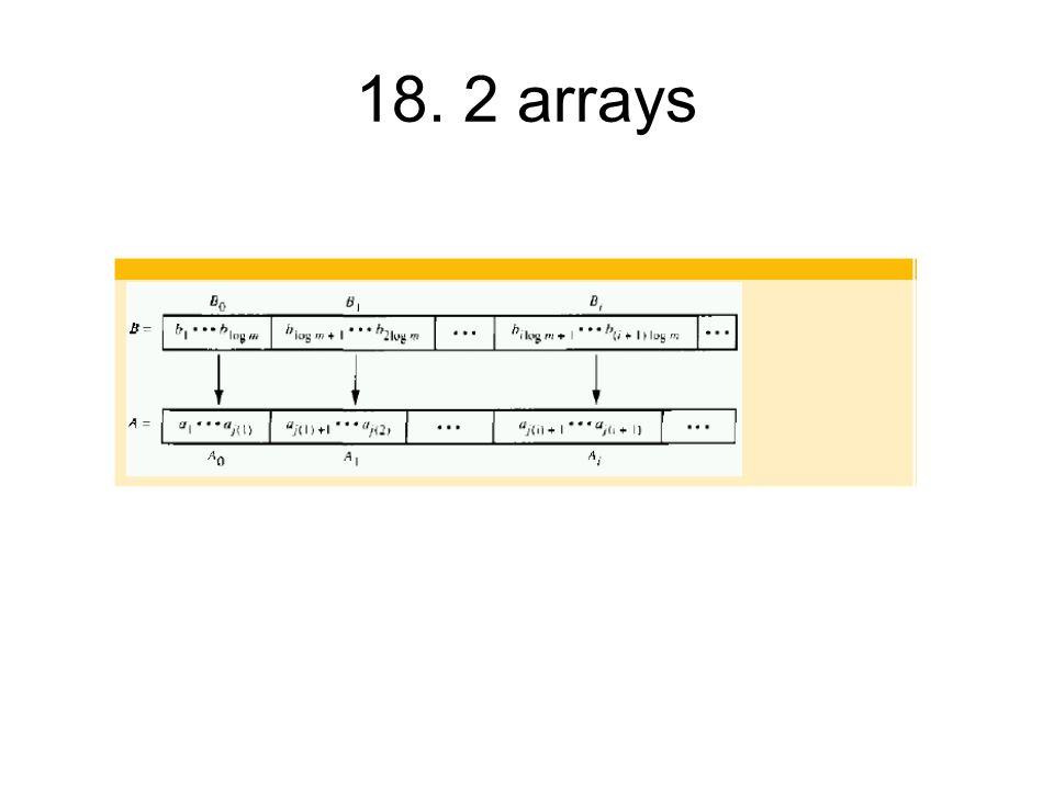 18. 2 arrays