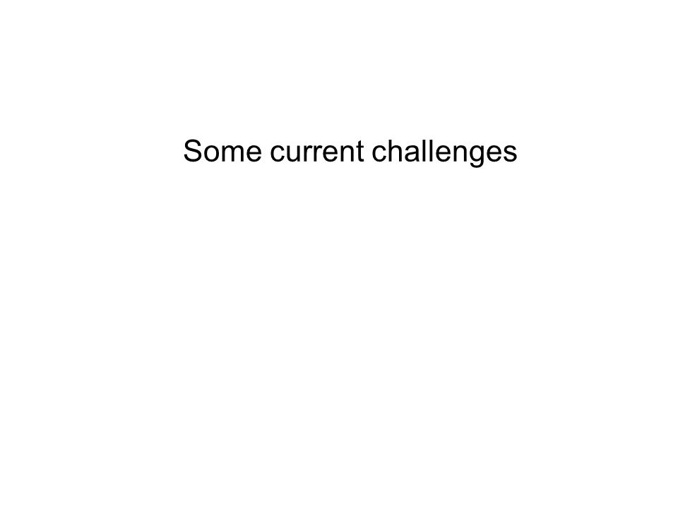 Some current challenges