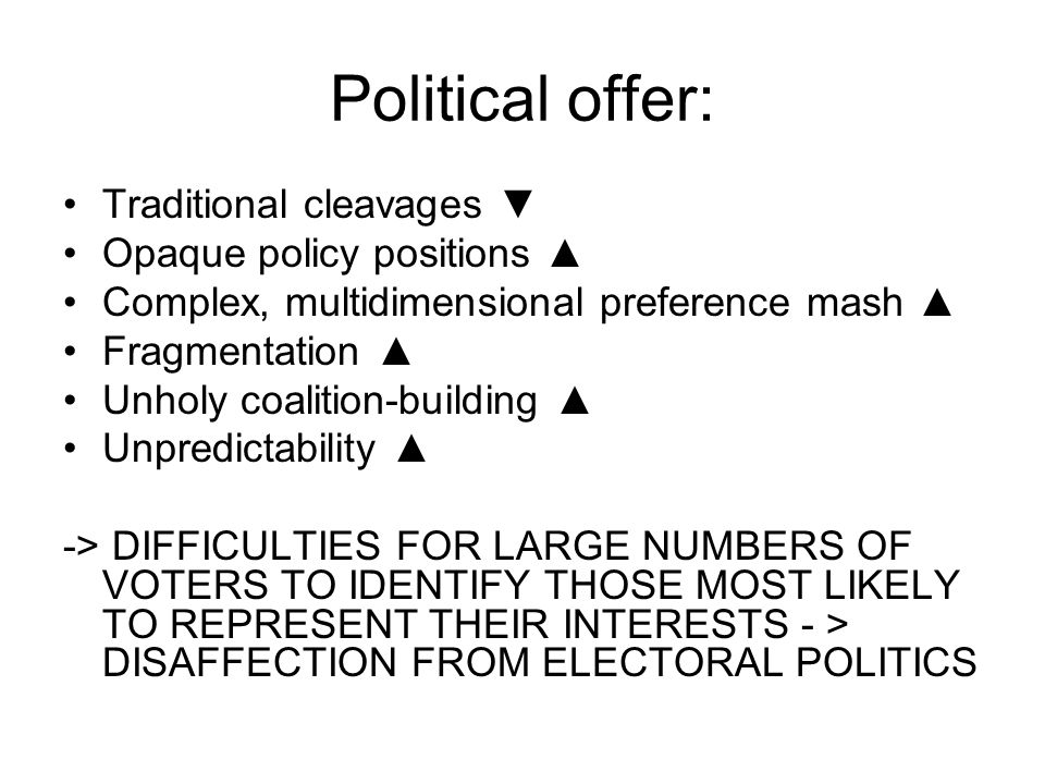 The irony Voters get lost, but their political curiosity does not Thanks to ICTs: opportunity for the social sciences and the interested public to learn more about: -parties -candidates -public opinion -political behavior -campaign dynamics