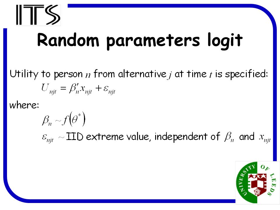 18 Random parameters logit