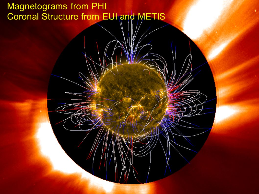 rfws, ieap, cau2014 Fall AGU, San Francisco, 2014- 12-17 14 Magnetograms from PHI Coronal Structure from EUI and METIS