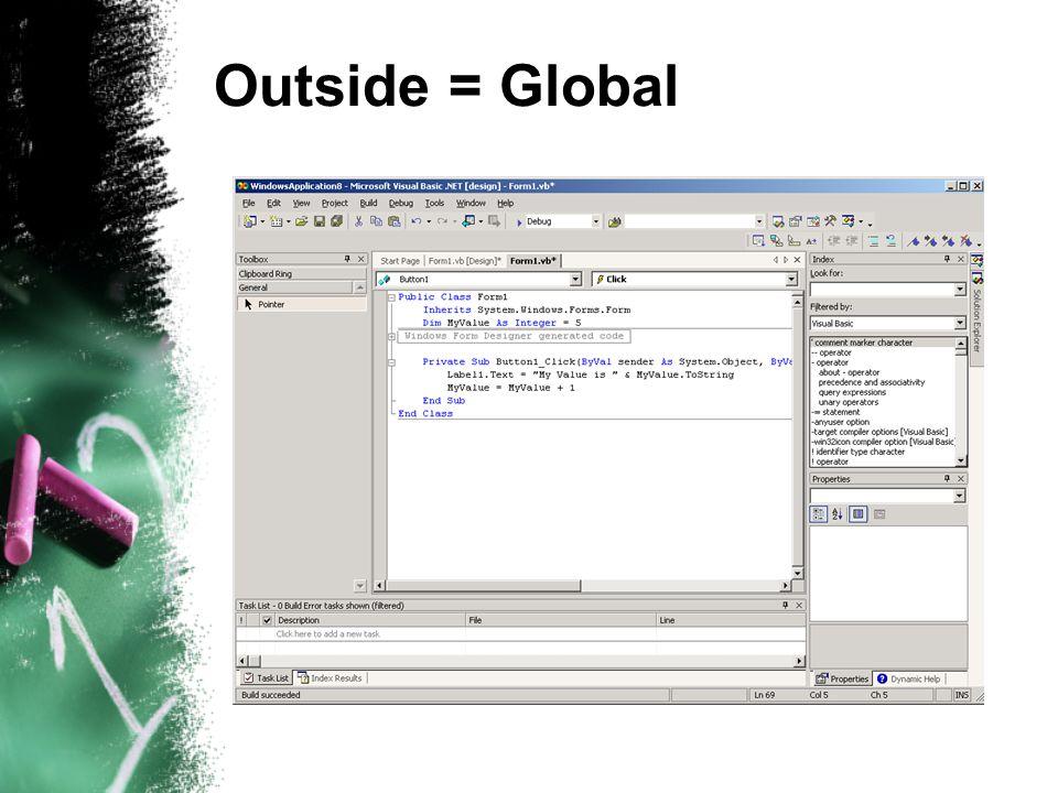 Outside = Global