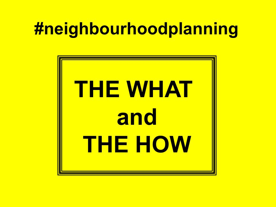 3… The number of neighbourhood plans