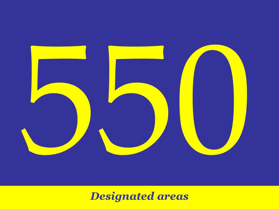Designated areas 550