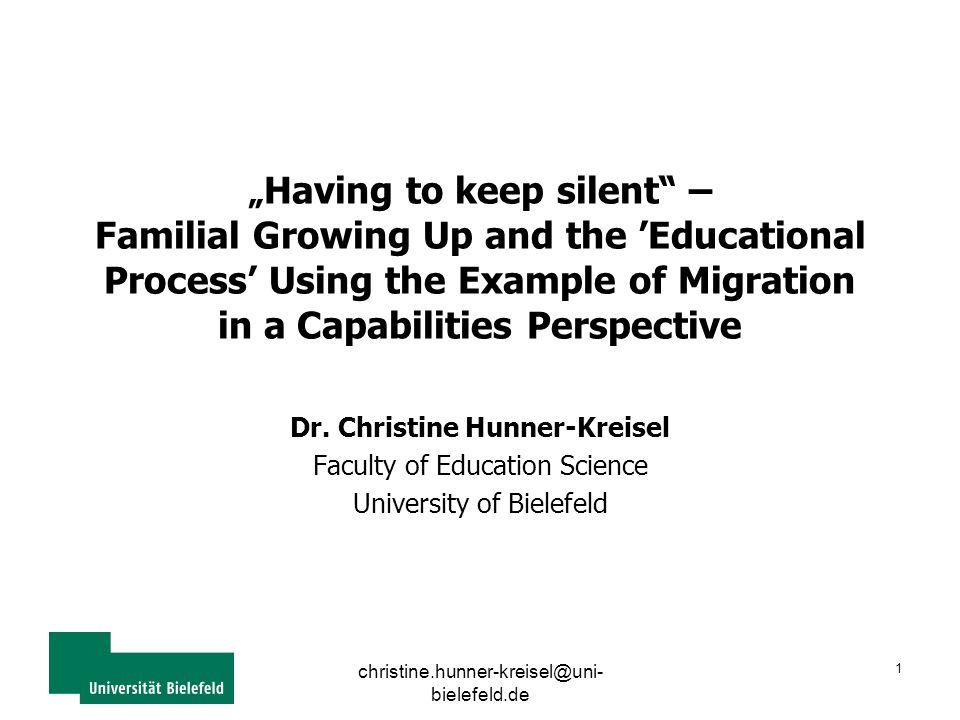 "christine.hunner-kreisel@uni- bielefeld.de 2 ""Having to keep silent I."