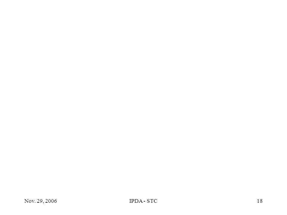 Nov. 29, 2006IPDA - STC18