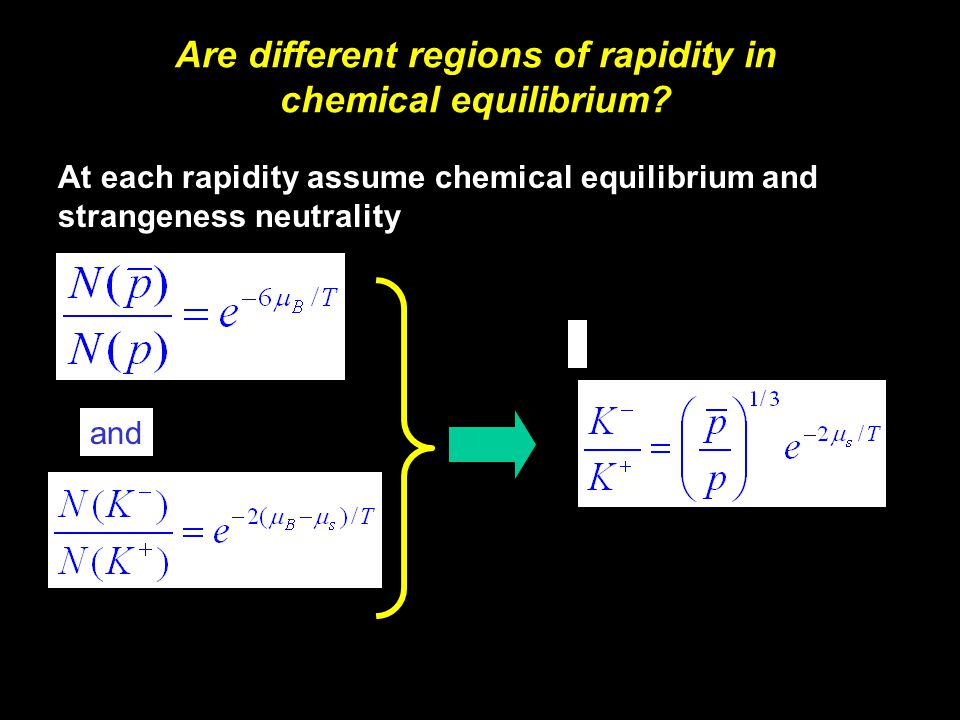 Michael Murray18 At each rapidity assume chemical equilibrium and strangeness neutrality and Are different regions of rapidity in chemical equilibrium?