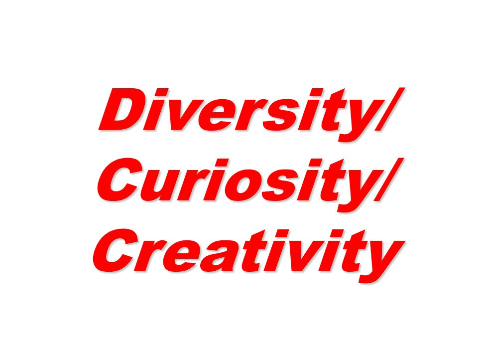 Diversity/ Curiosity/ Creativity Diversity/ Curiosity/ Creativity