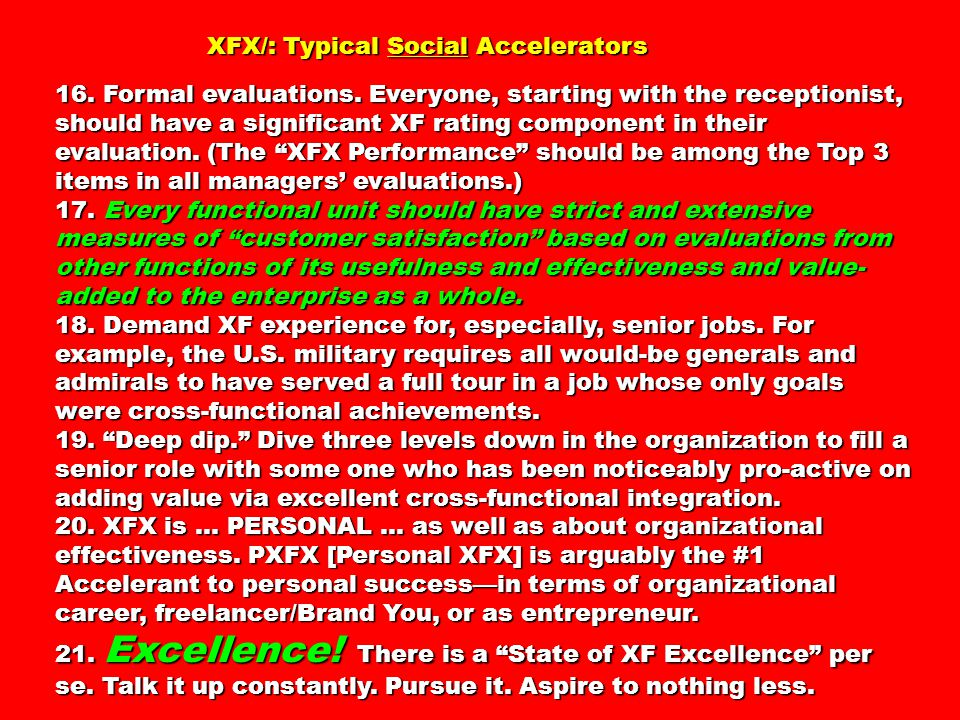 XFX/: Typical Social Accelerators XFX/: Typical Social Accelerators 16.