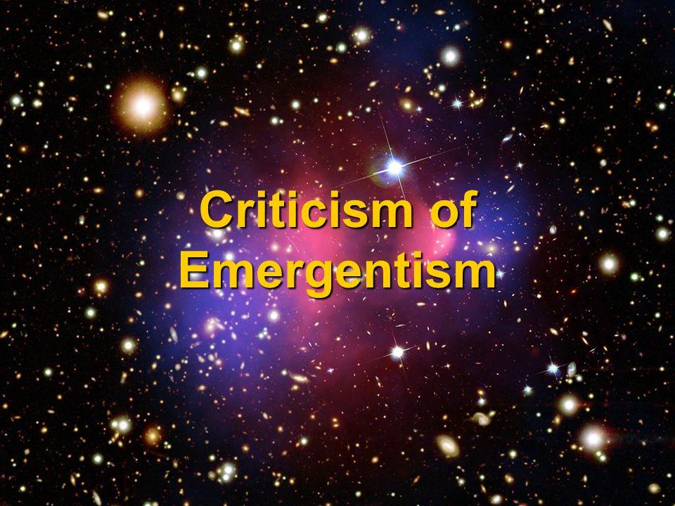 Criticism of Emergentism