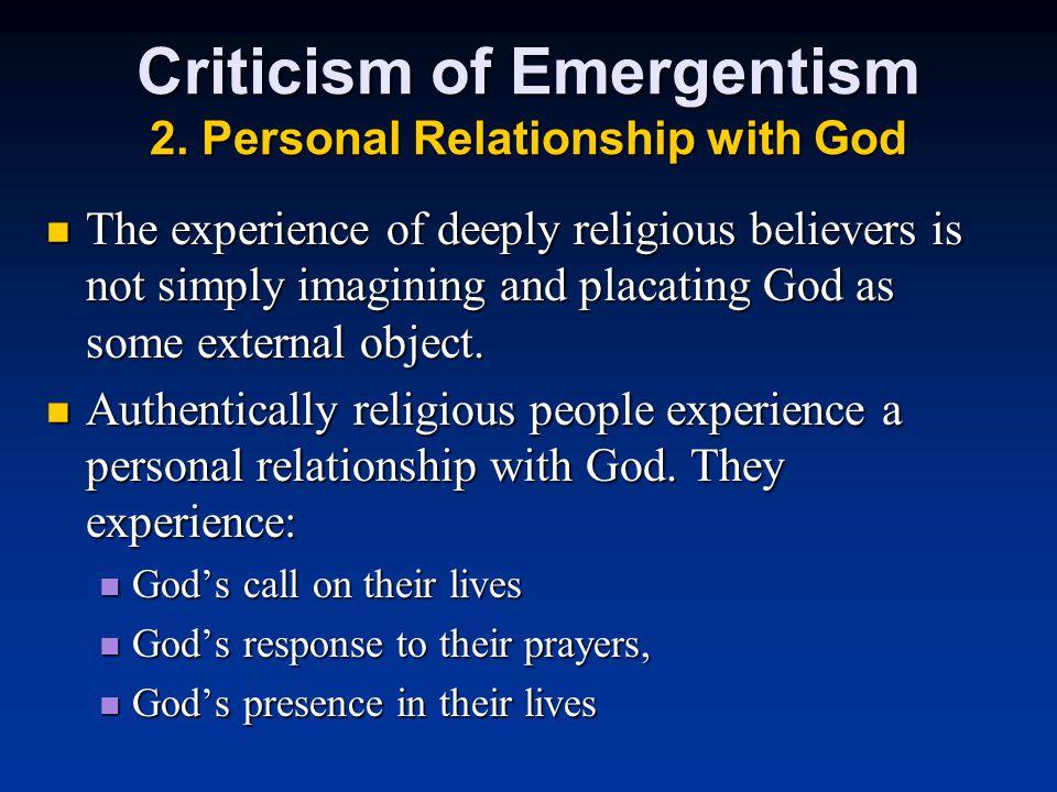 Criticism of Emergentism 2.