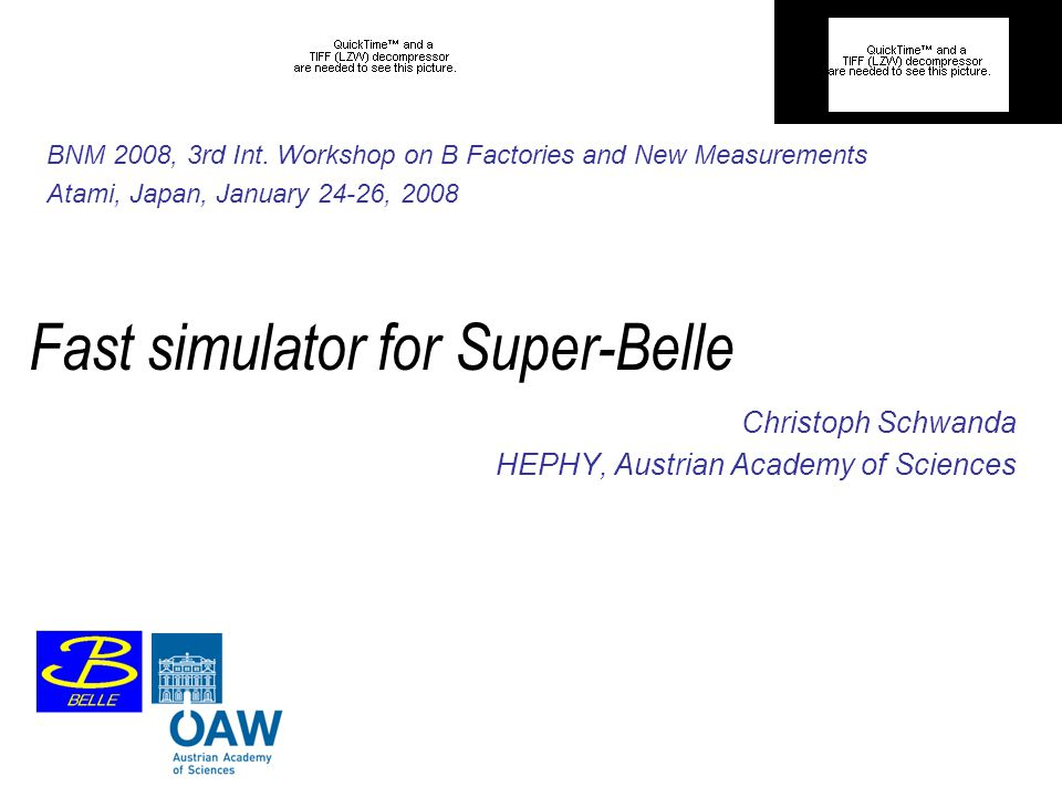 Fast simulator for Super-Belle Christoph Schwanda HEPHY, Austrian Academy of Sciences BNM 2008, 3rd Int.
