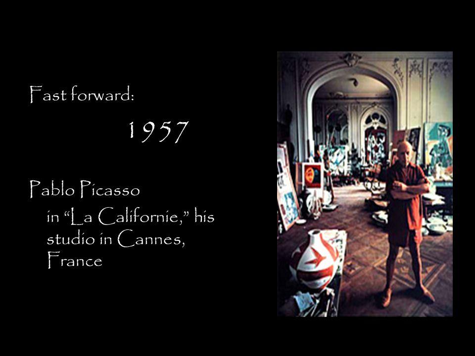Fast forward: 1957 Pablo Picasso in La Californie, his studio in Cannes, France