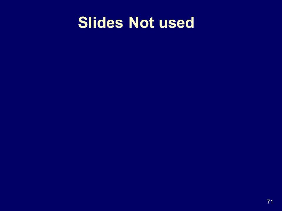71 Slides Not used