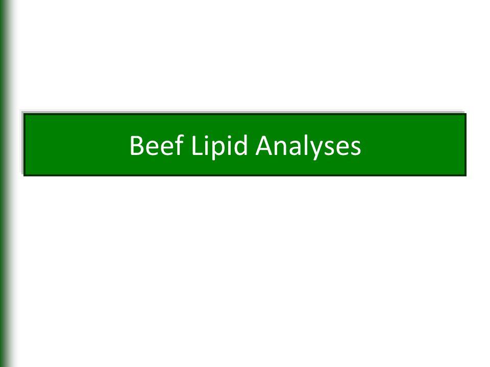 Beef Lipid Analyses