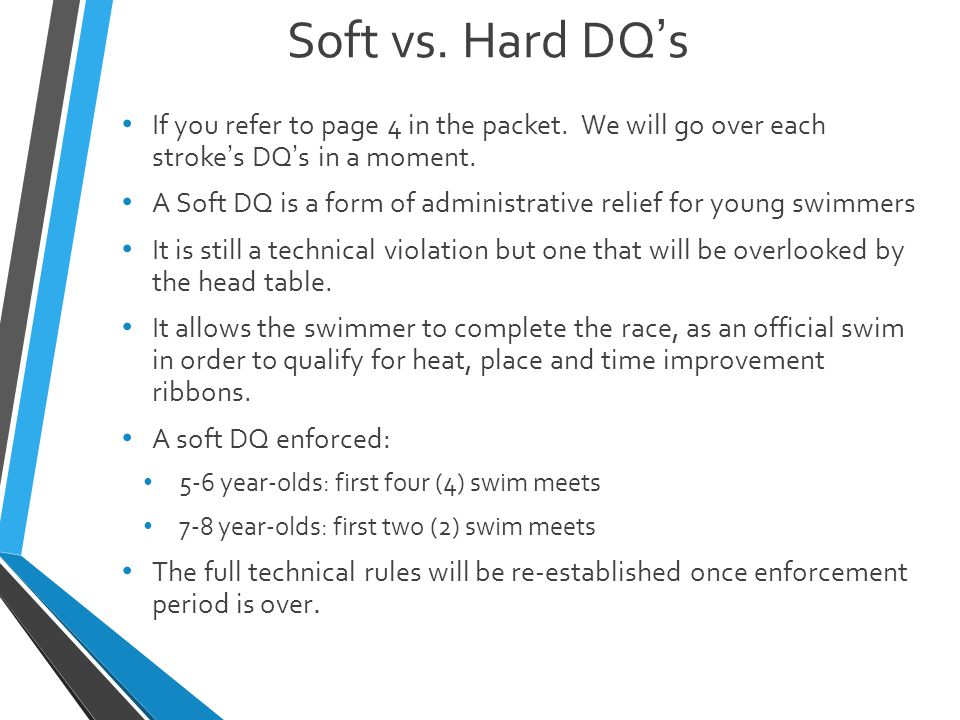 Soft vs. Hard DQ's If you refer to page 4 in the packet.