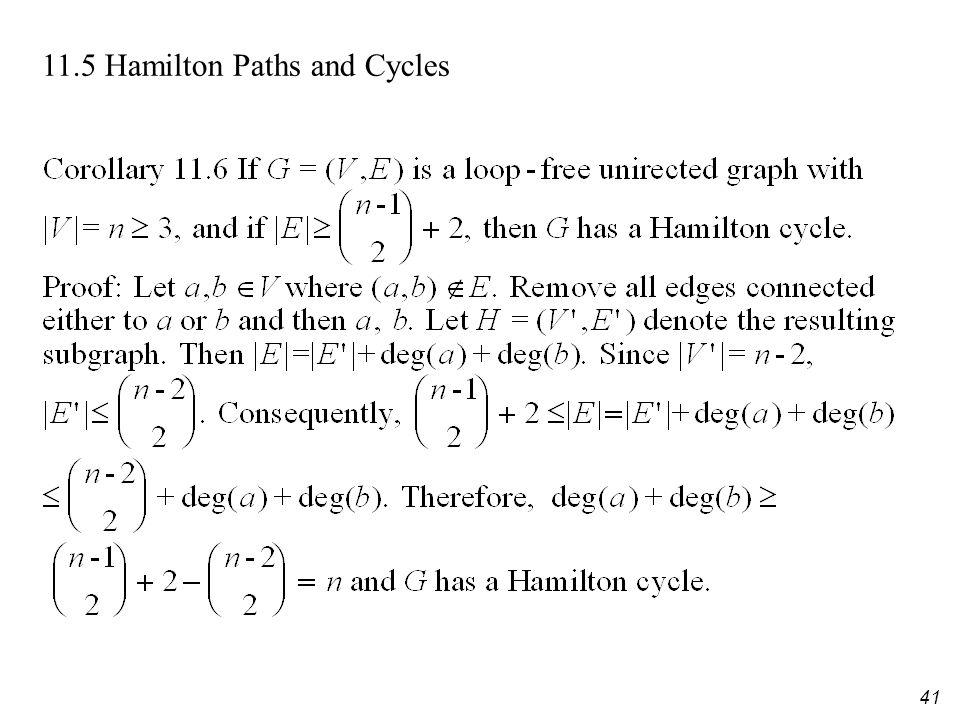 41 11.5 Hamilton Paths and Cycles
