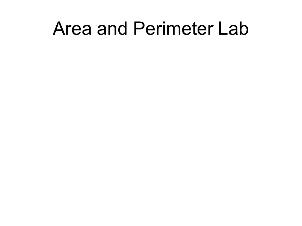 Area and Perimeter Lab