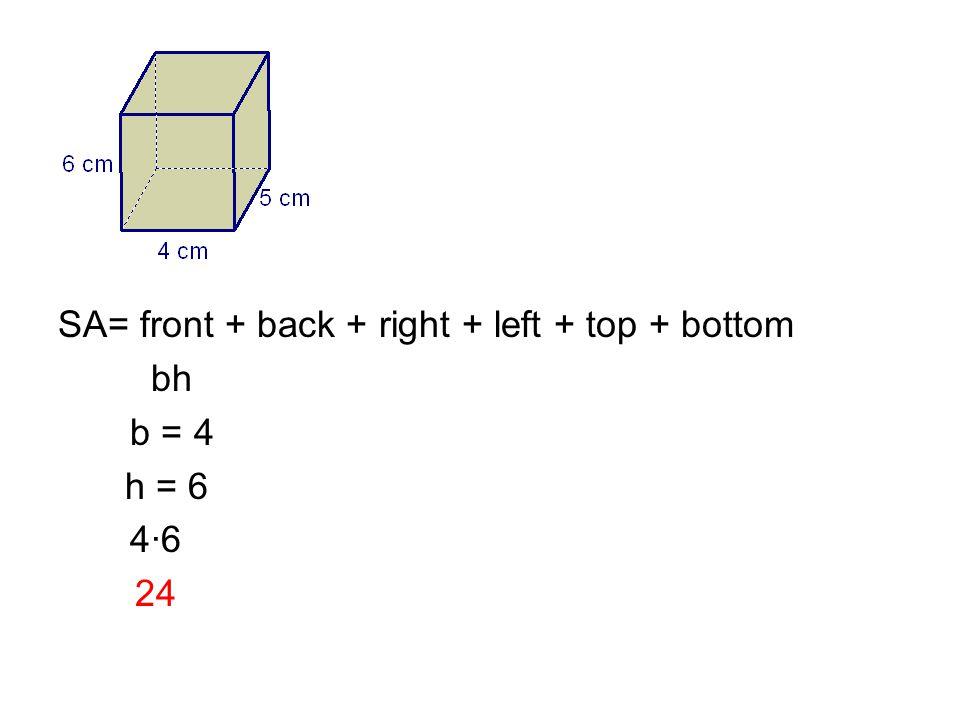 bh b = 4 h = 6 4·6 24