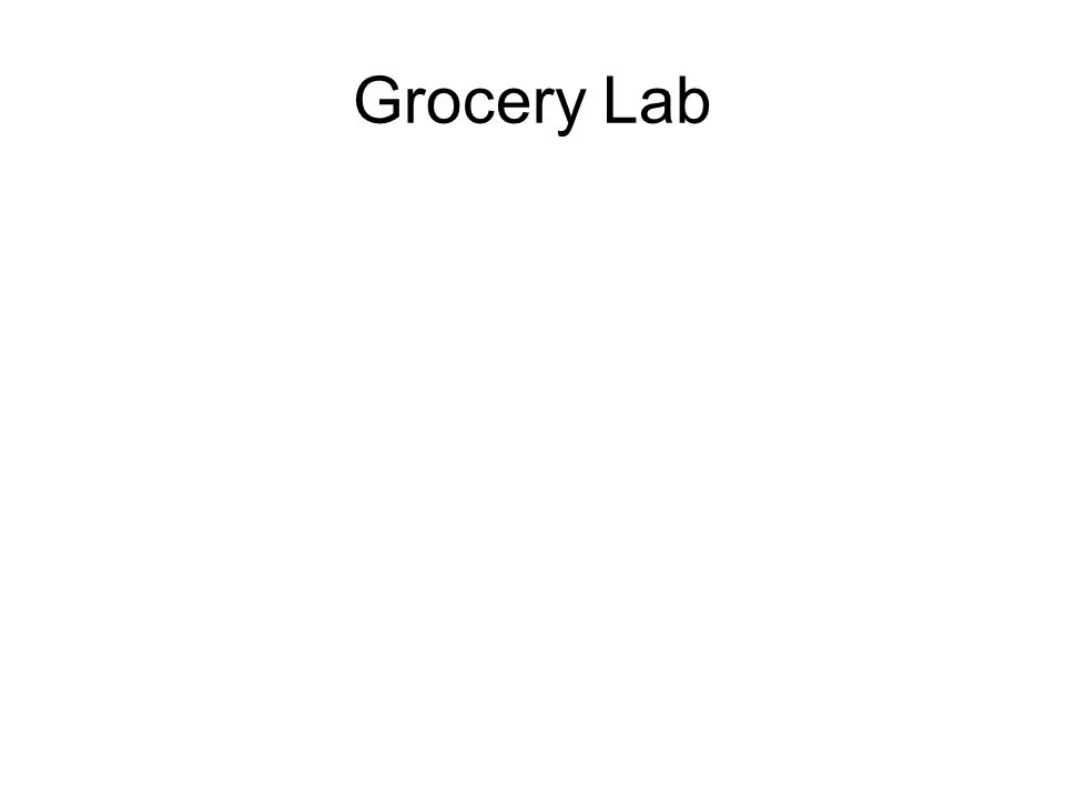 Grocery Lab